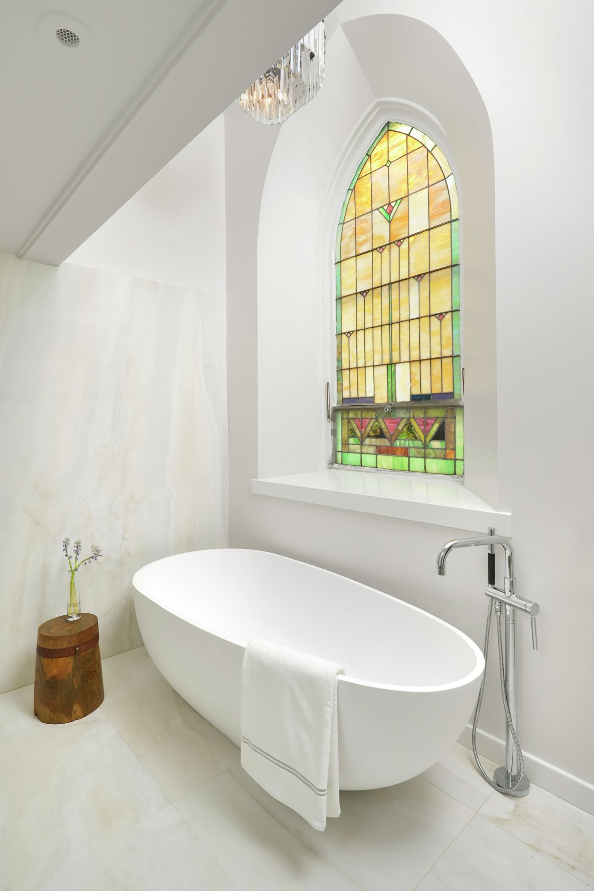Church Conversion into a Residence Freestanding tub