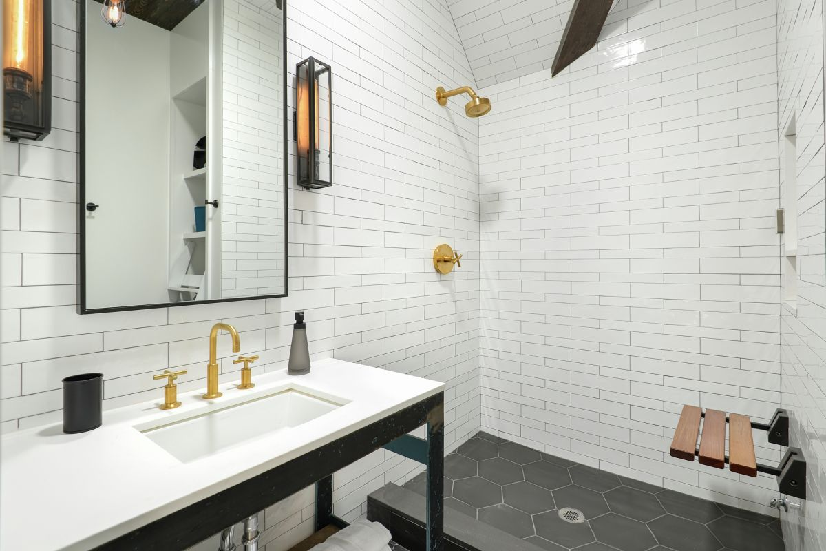 Church Conversion into a Residence Walk In Shower