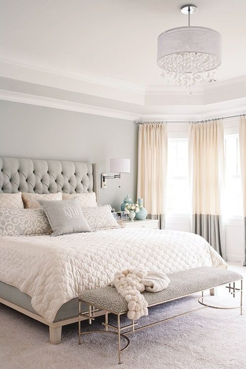 Color block bedroom