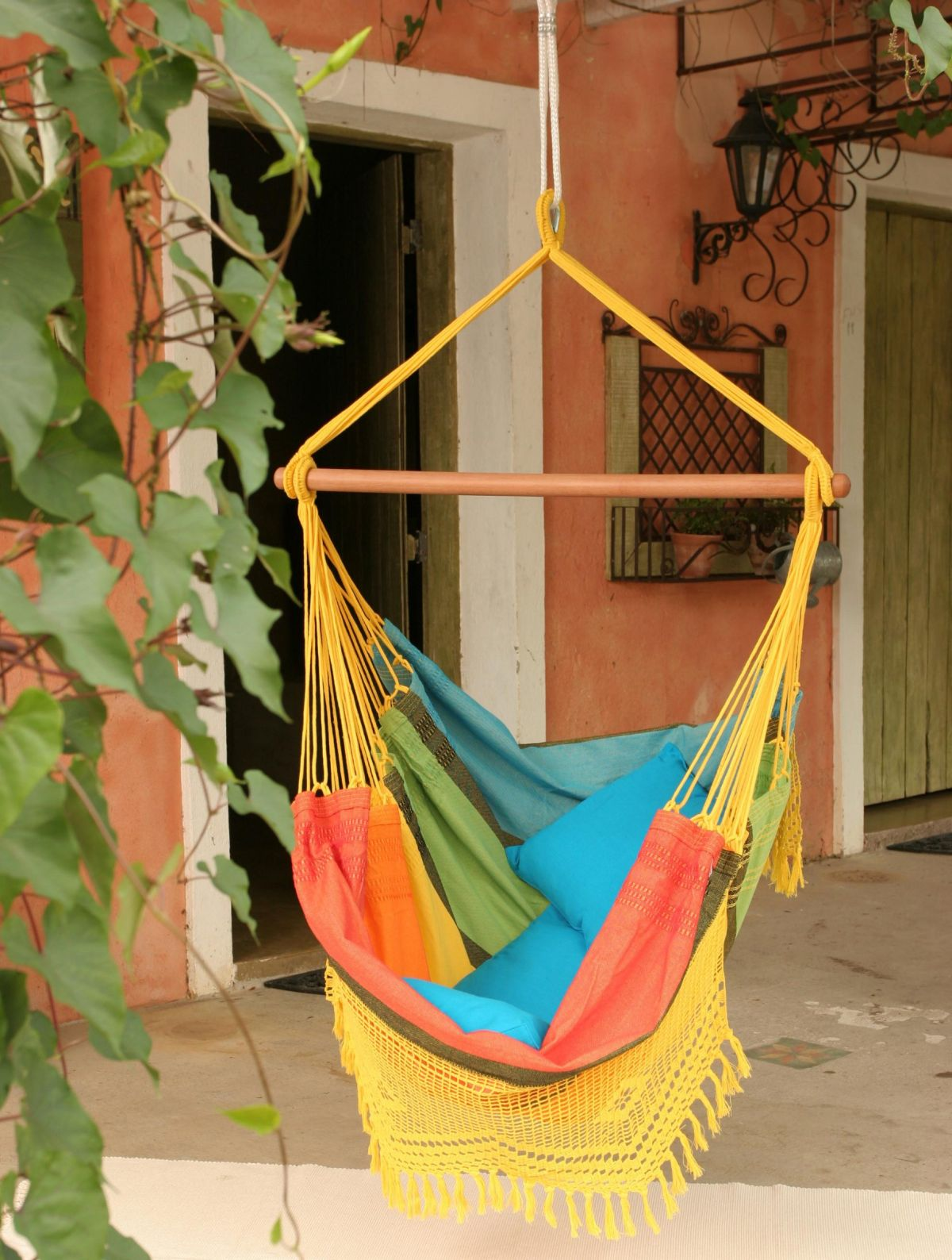 Colorful Cotton Fabric Hammock Hanging