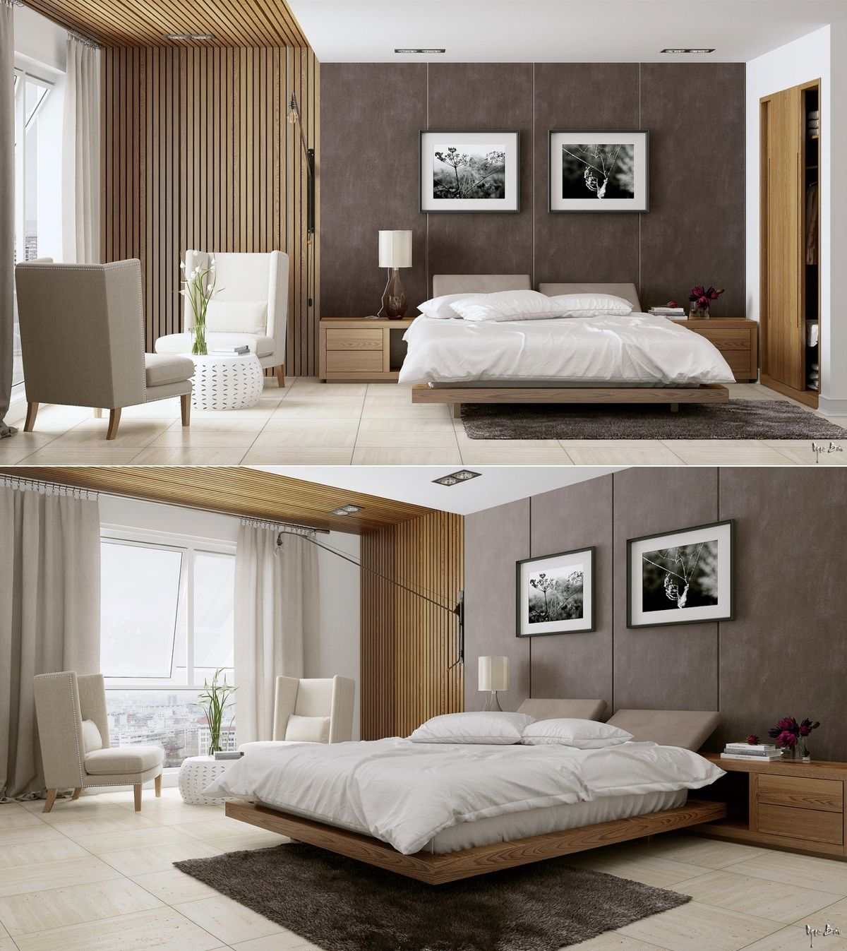 Contemporary Bedroom Furniture Design Rending