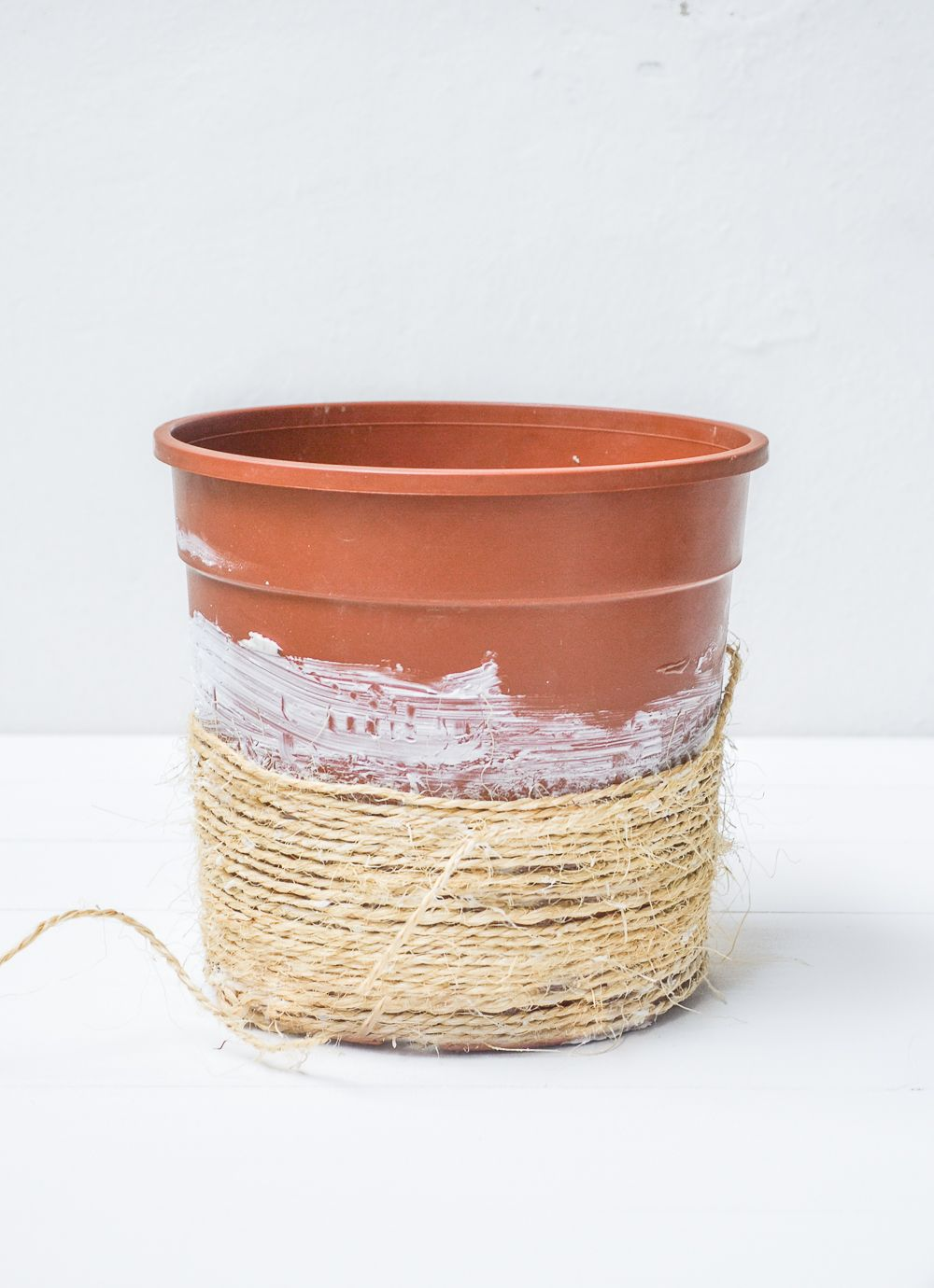Cool Sisal Planter Continue wrapping