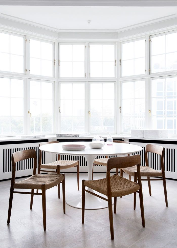 Copenhagen Residence Dining Area With Iconic Furniture