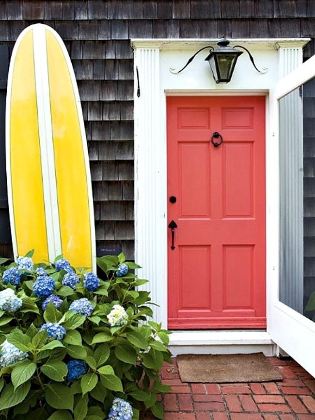 Coral paint front door