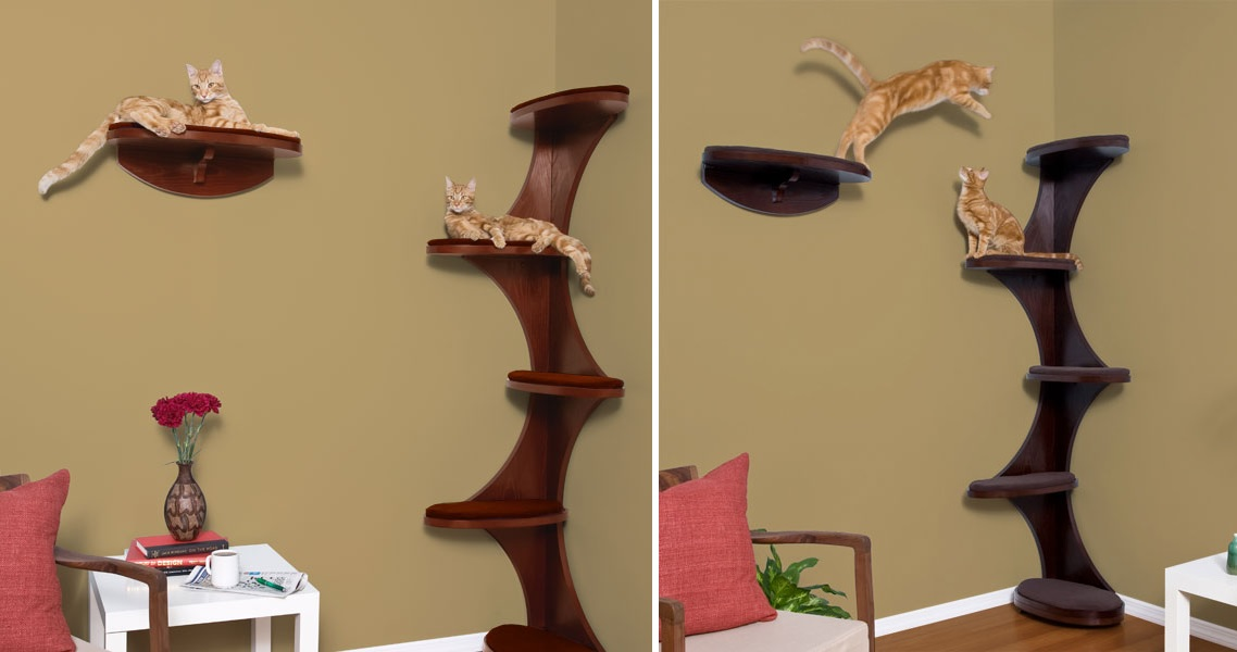 Modern Cat Tree Alternatives For UpToDate Pets - Corner tree bookshelf
