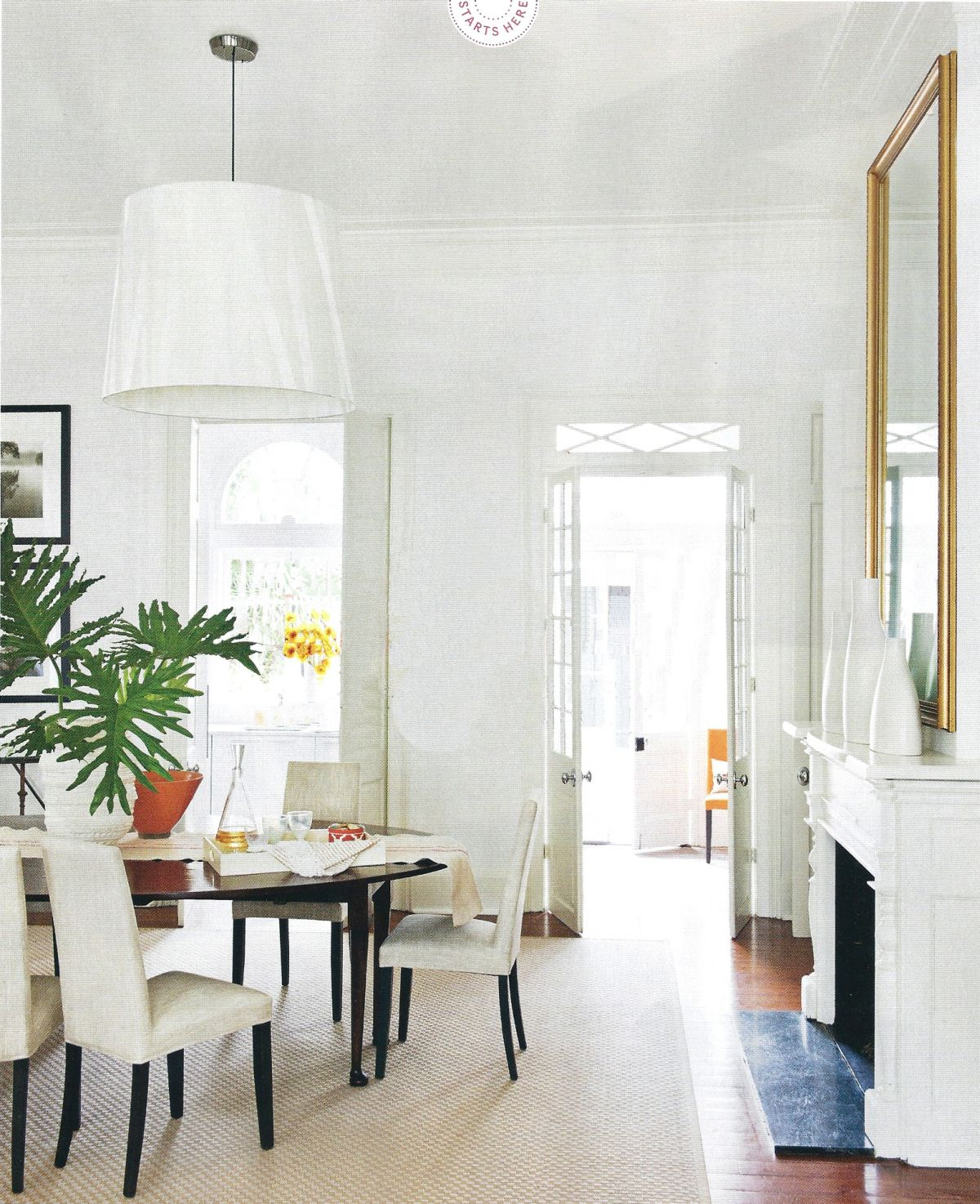 Crisp neutral white interior