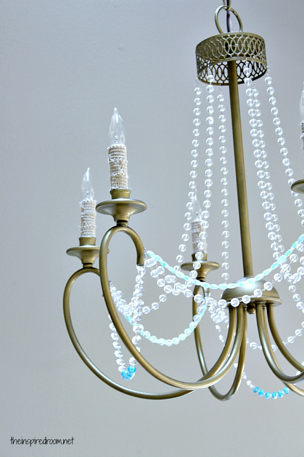 Crystal beaded chandlelier