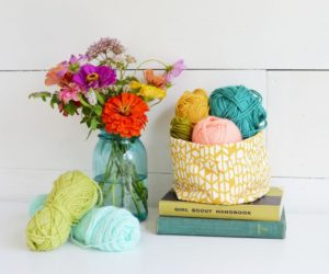 DIY Multipurpose Fabric Yarn Basket Storage