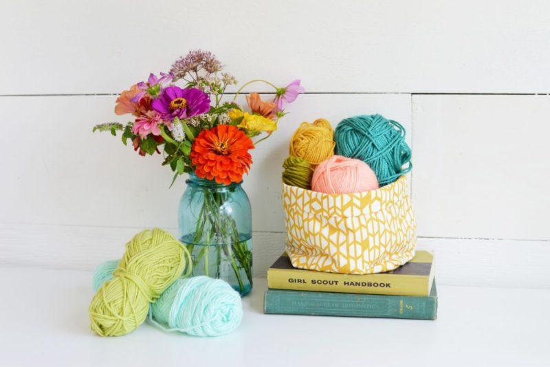 DIY Multipurpose Fabric Yarn Basket Storage