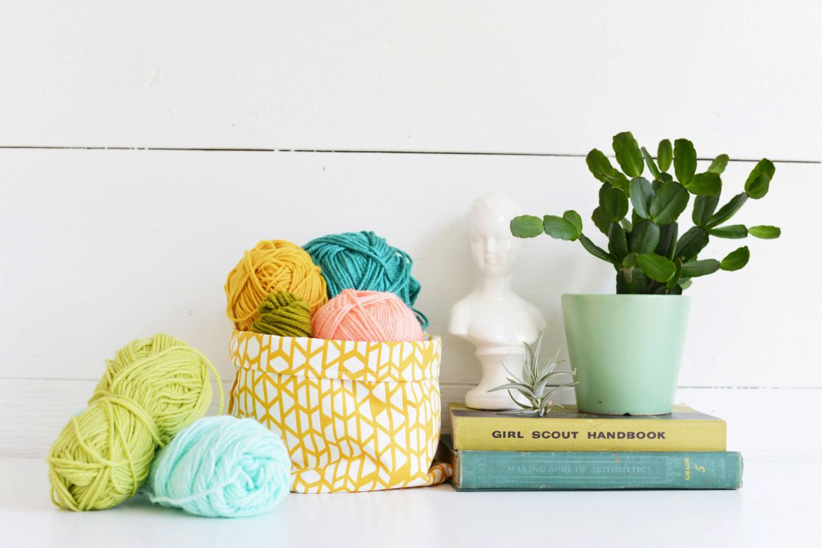 DIY Fabric Basket Colorful