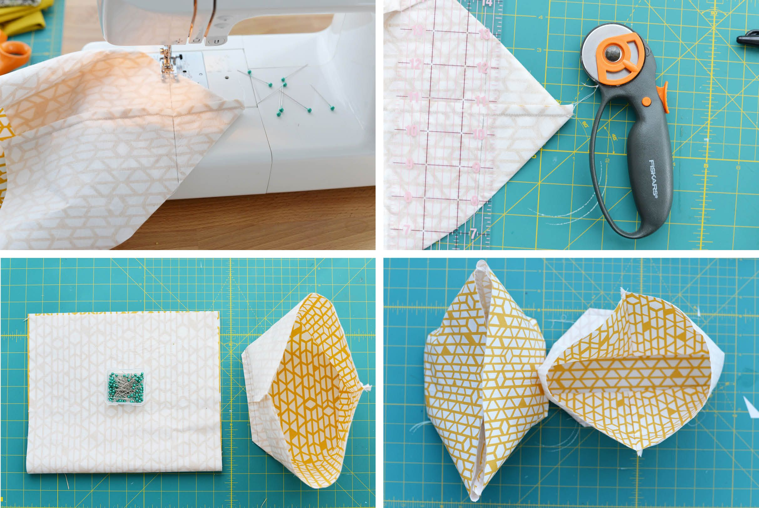 DIY Fabric Basket Step 3