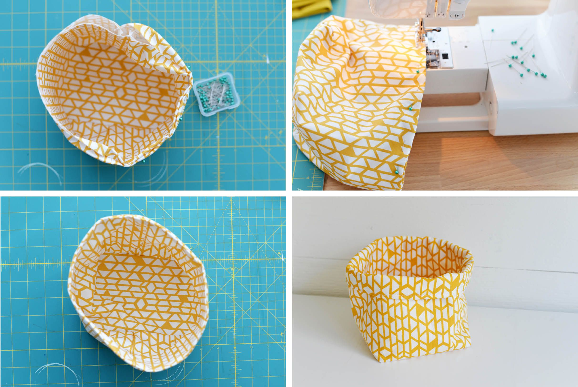 DIY Fabric Basket Step 4