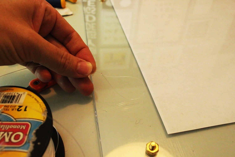 DIY Faux Lucite Frame Nail