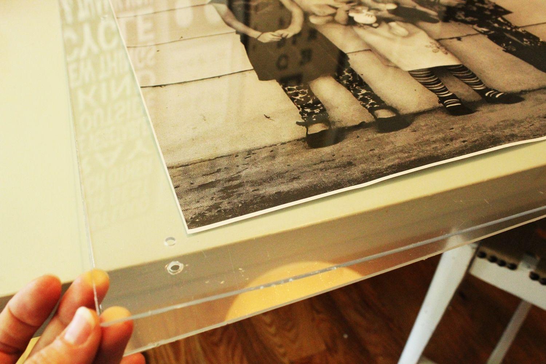DIY Faux Lucite Frame Photo Prep