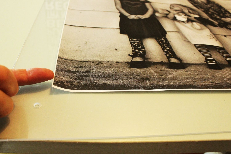 DIY Faux Lucite Frame Photo corners