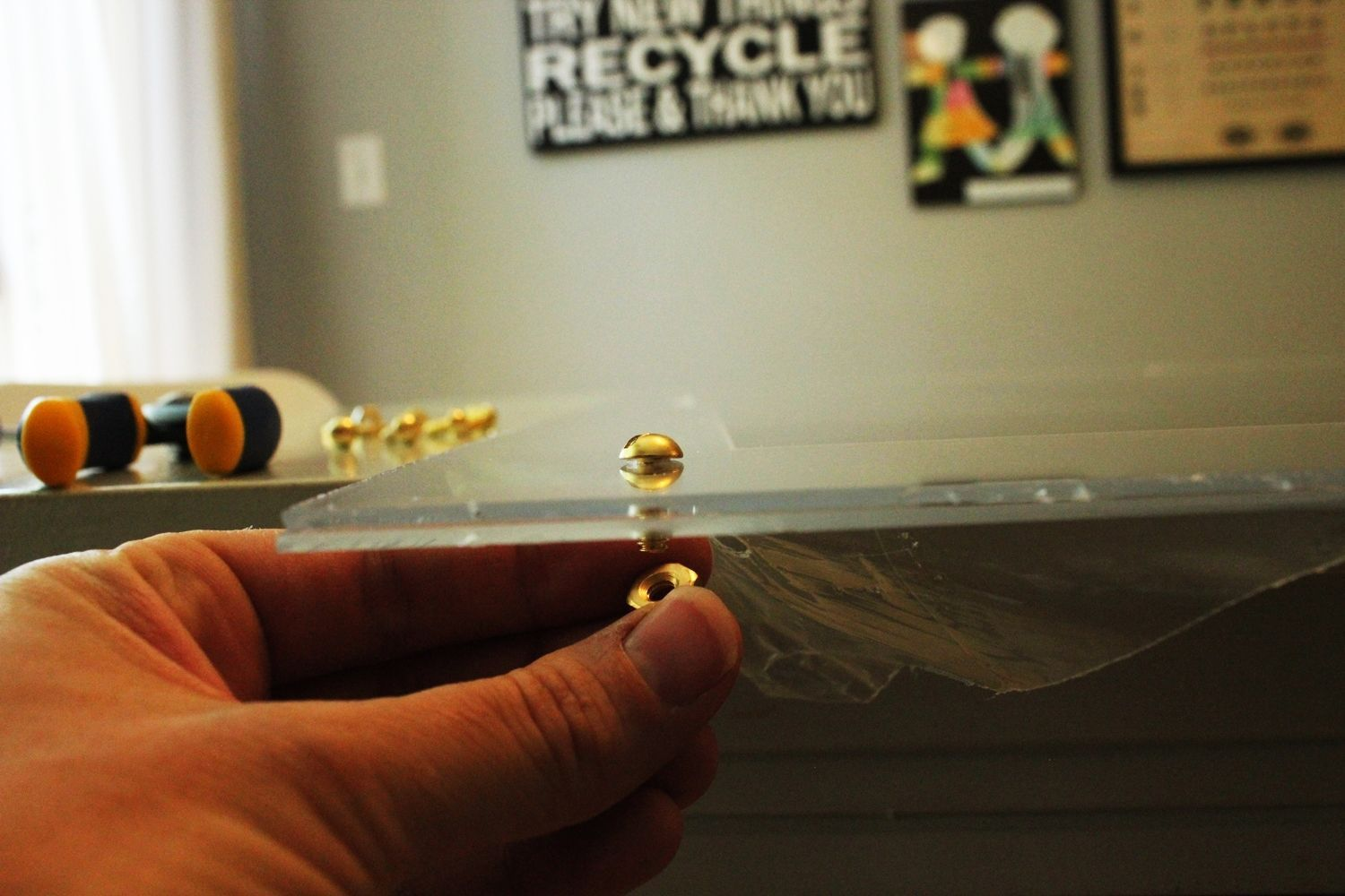 DIY Faux Lucite Frame Screw
