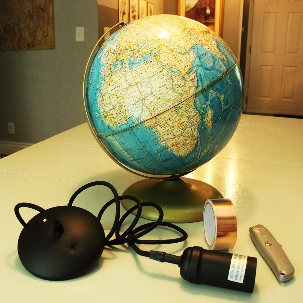 Diy Globe Pendant Light A Quick And Easy Lighting Upgrade