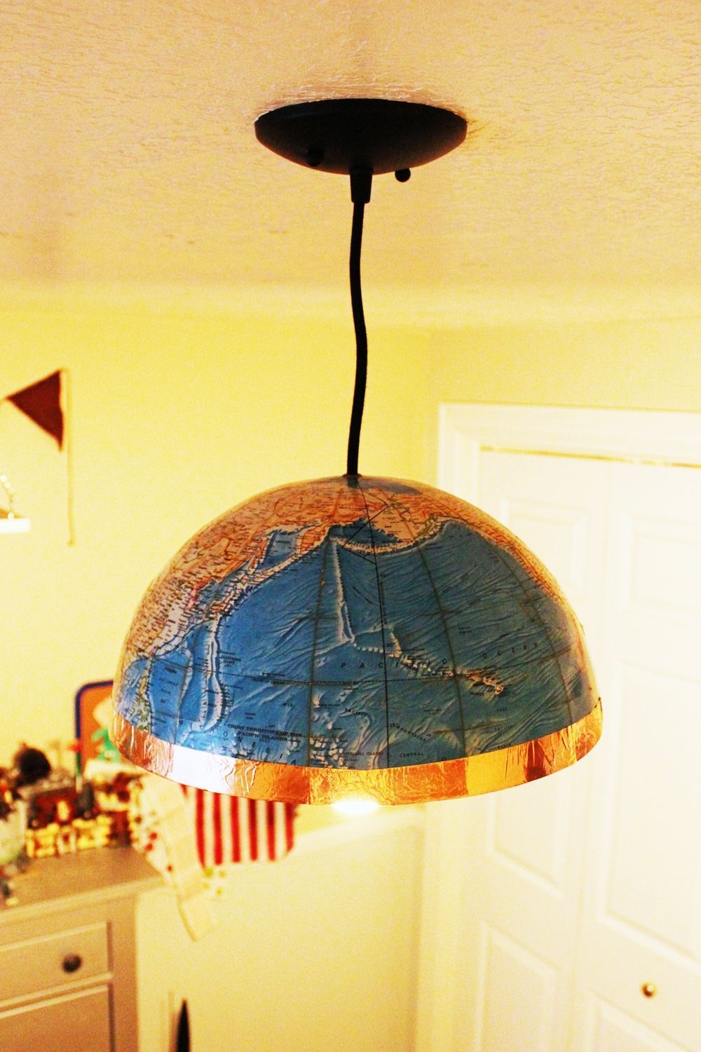Diy globe pendant light a quick and easy lighting upgrade diy globe pendant light aloadofball Gallery