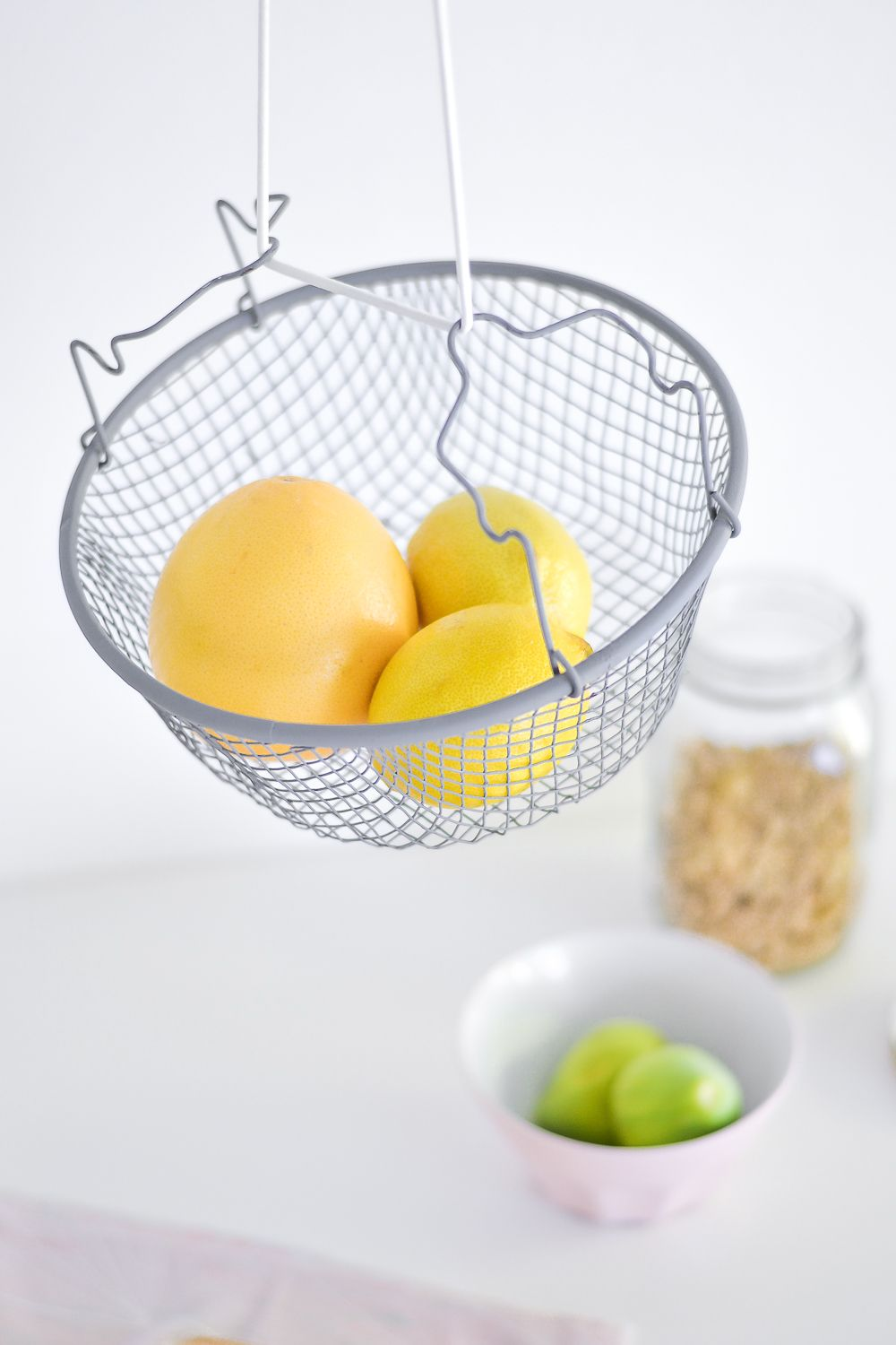 DIY Hanging fruit basket Closer