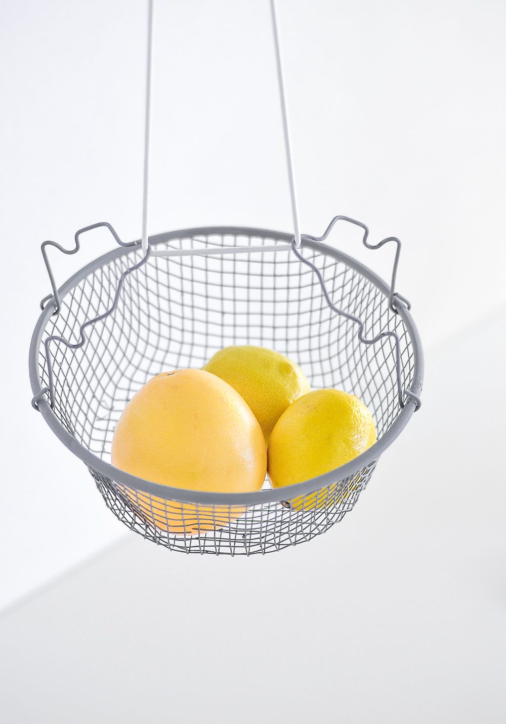 DIY Hanging fruit basket for kitchen