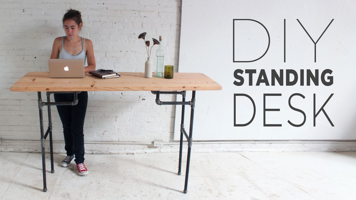 Diy Plumbers Pipe Standing Desk