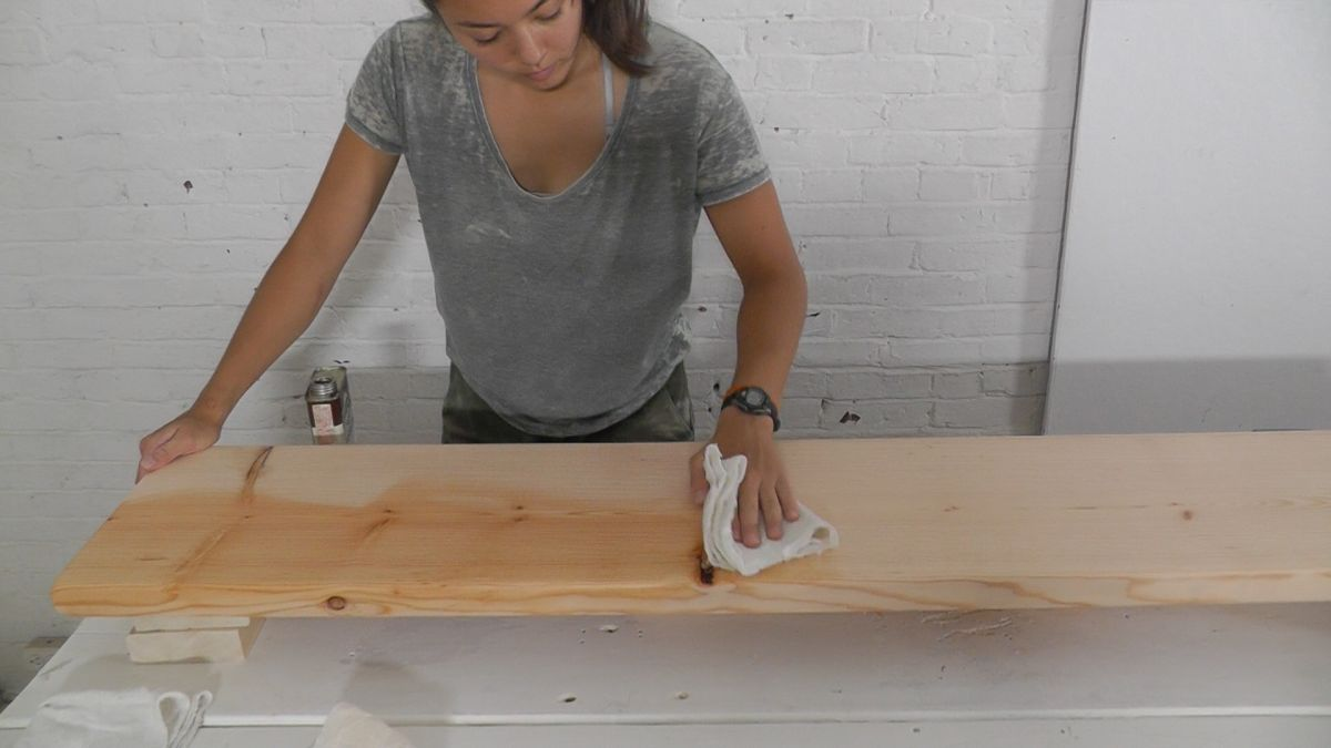 DIY Standing Desk Wipe and Stain Tutorial