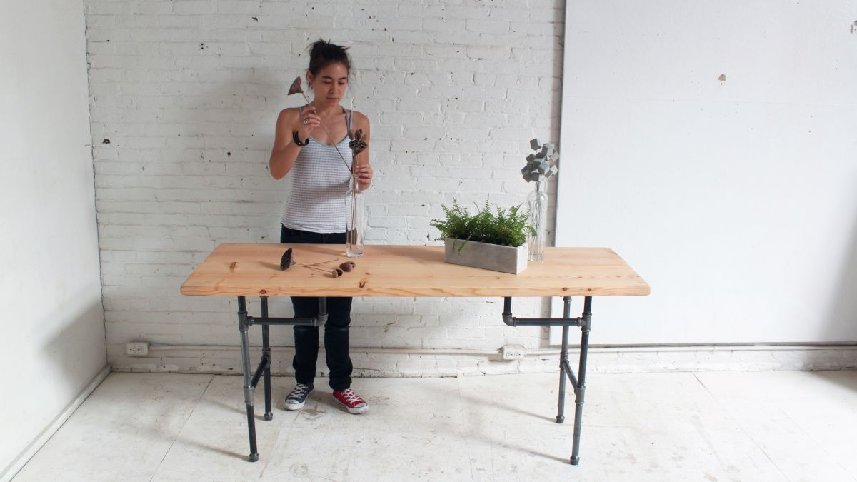 Diy Standing Desk From Plumbers