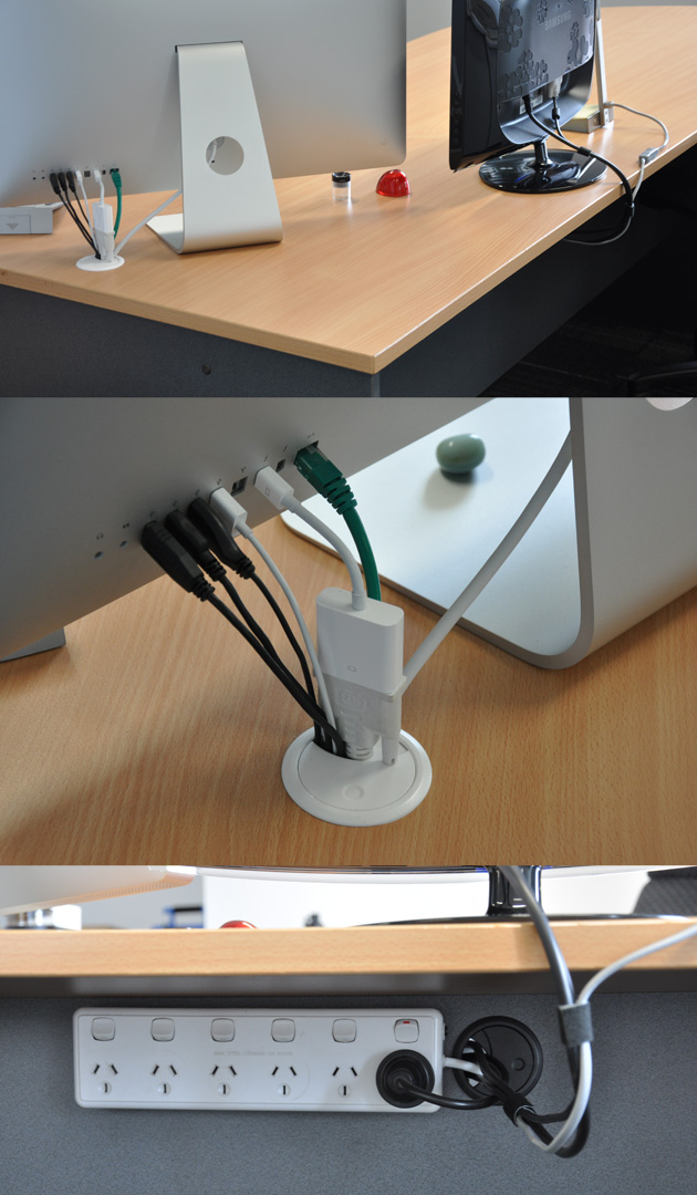 simple cord management solutions that can make life easier. Black Bedroom Furniture Sets. Home Design Ideas