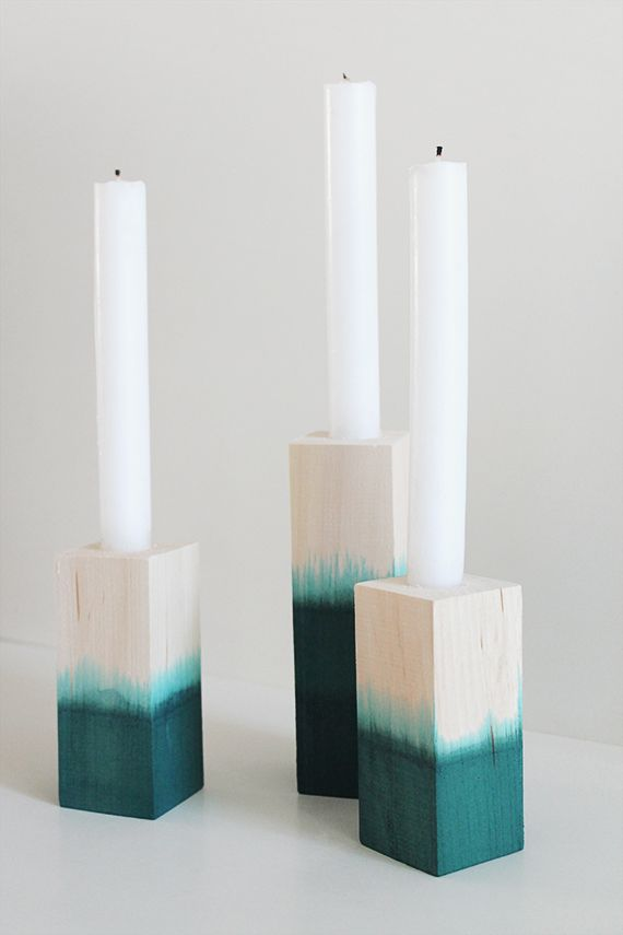 Dip dyed candlestick