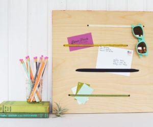 DIY Elastic Memo Board