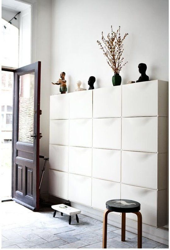 Wonderful Entryway IKEA White Trones
