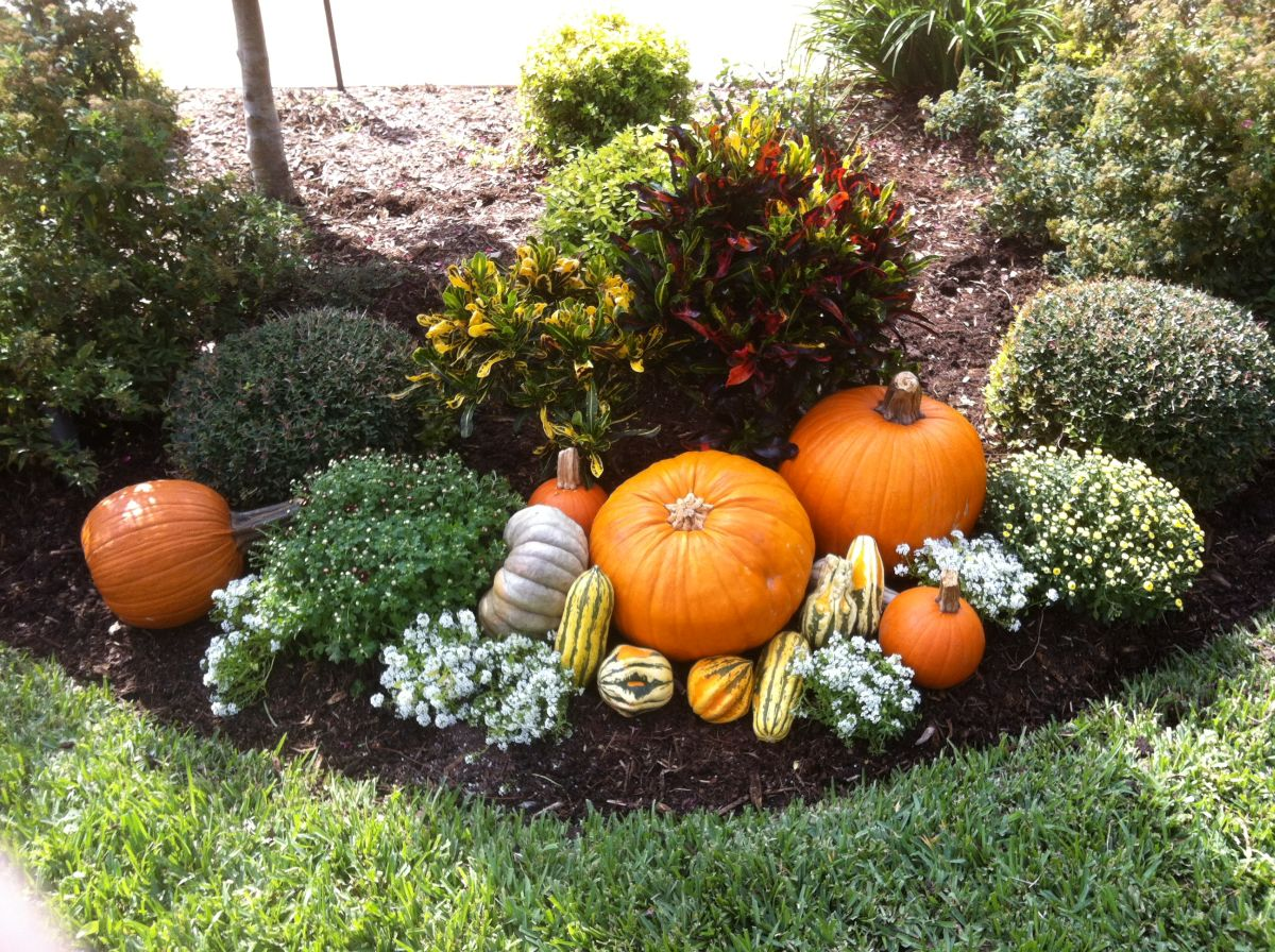 20 ways to help create a fall inspired front lawn for Outdoor dekoration