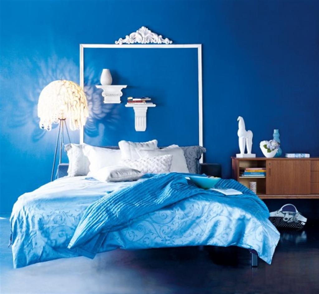 Full Blue Master Bedroom