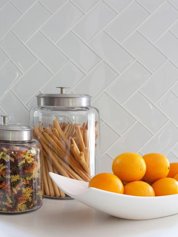 Glass subway tiles for backsplash