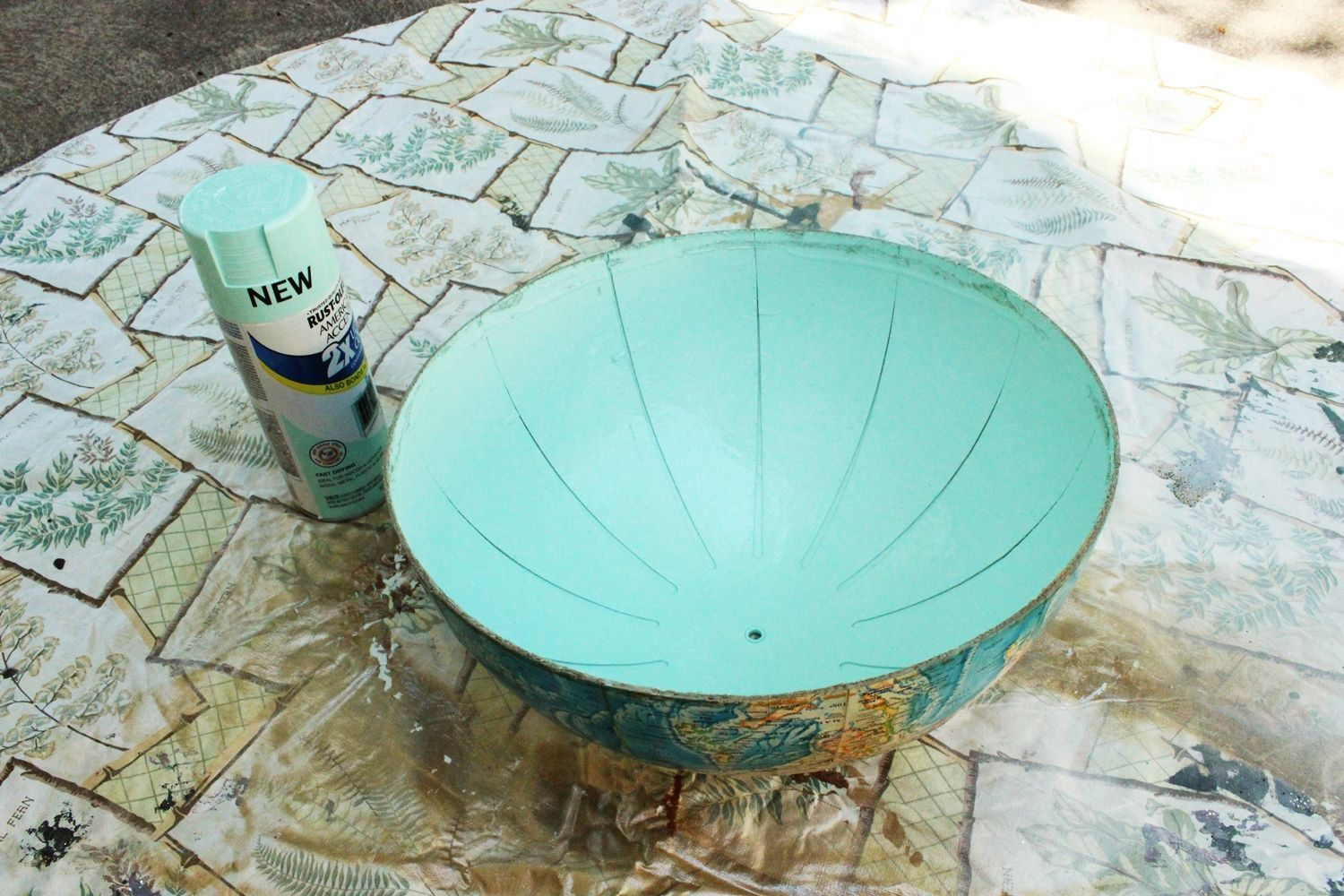 Globe after spray paint