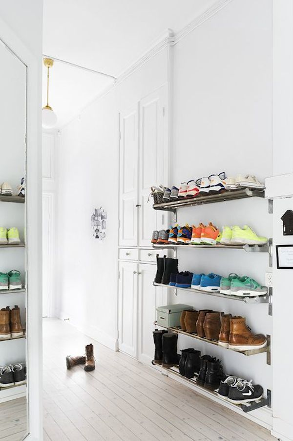 Grundtal rail entryway shoe rack