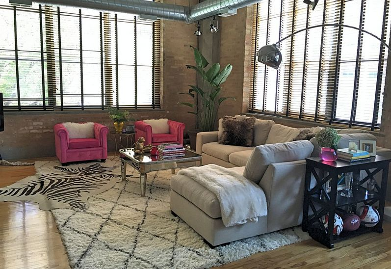Hot Pink Comfortable Chairs View In Gallery A Feng Shuid Room