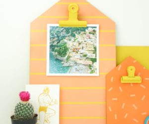 DIY House Shaped Clipboards