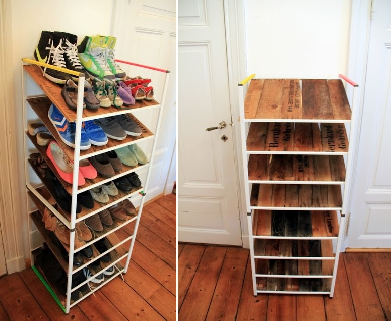 IKEA Antonius frames into shoe rack & How To Use IKEA Products To Build Shoe Storage Systems