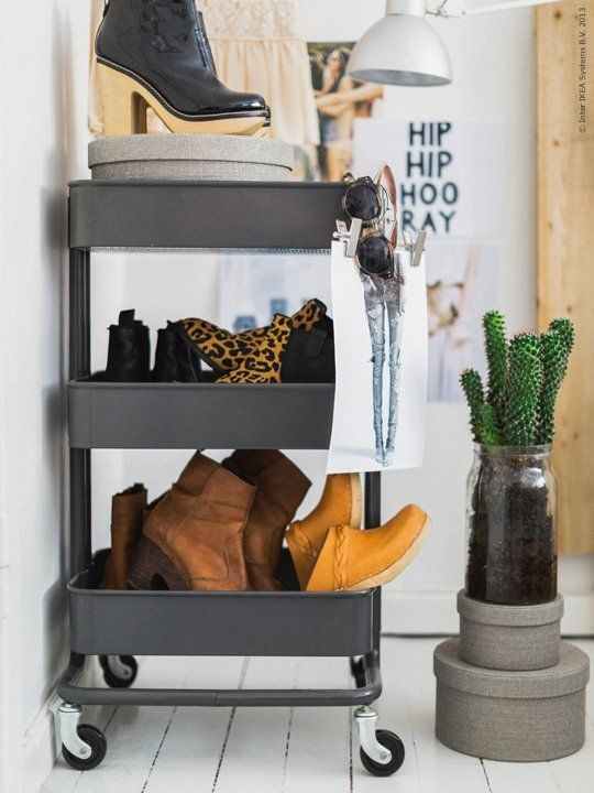 Good IKEA Raskog Cart Into Shoe Rack