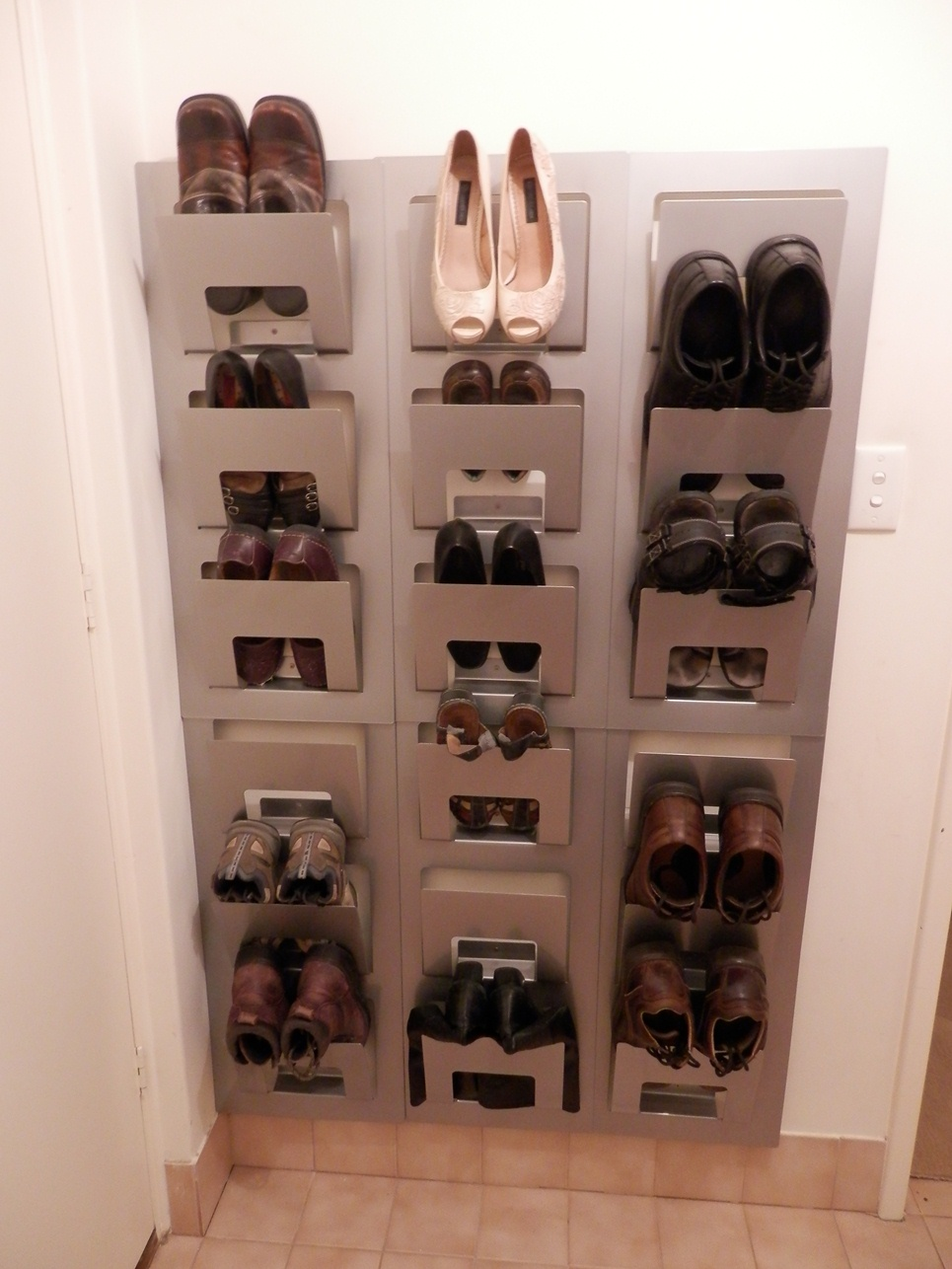 how to use ikea products to build shoe storage systems. Black Bedroom Furniture Sets. Home Design Ideas