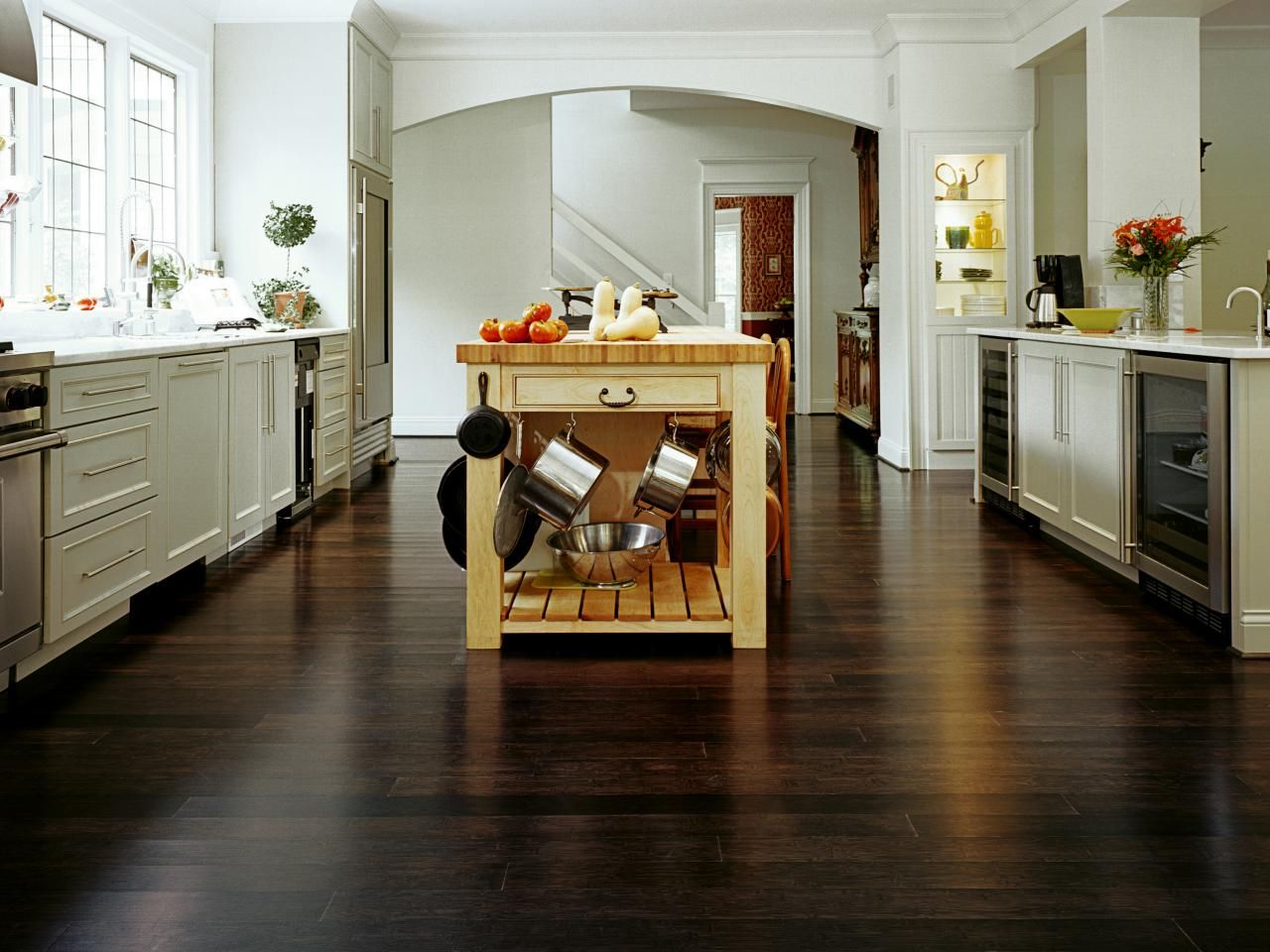 Kitchen Bamboo Flooring Option