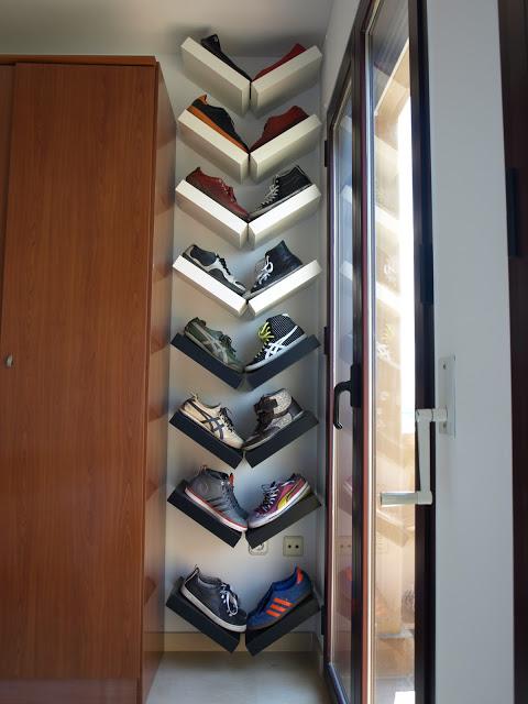 Lack shelves for shoe storage