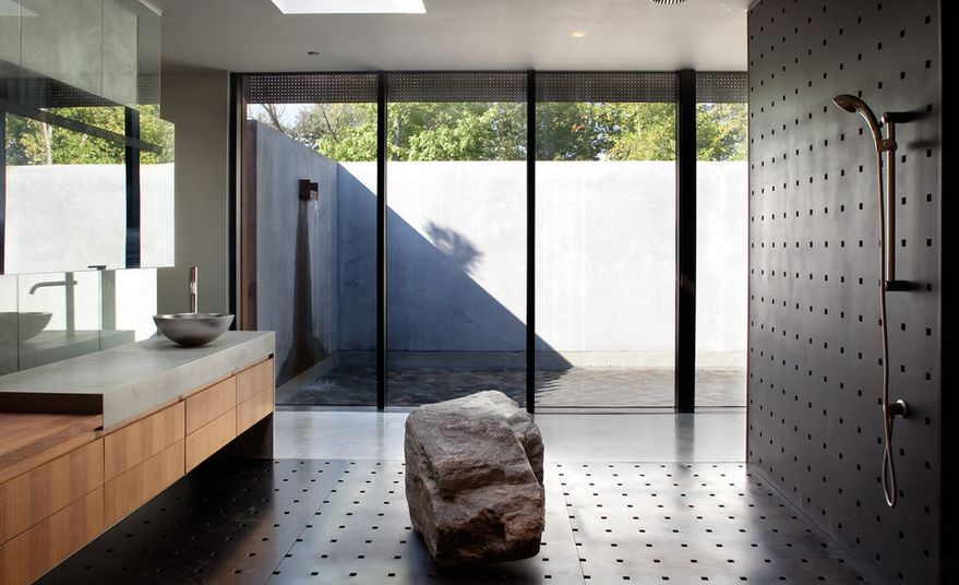 Large rock for walk in shower