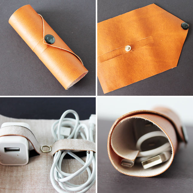 Leather cord roll up
