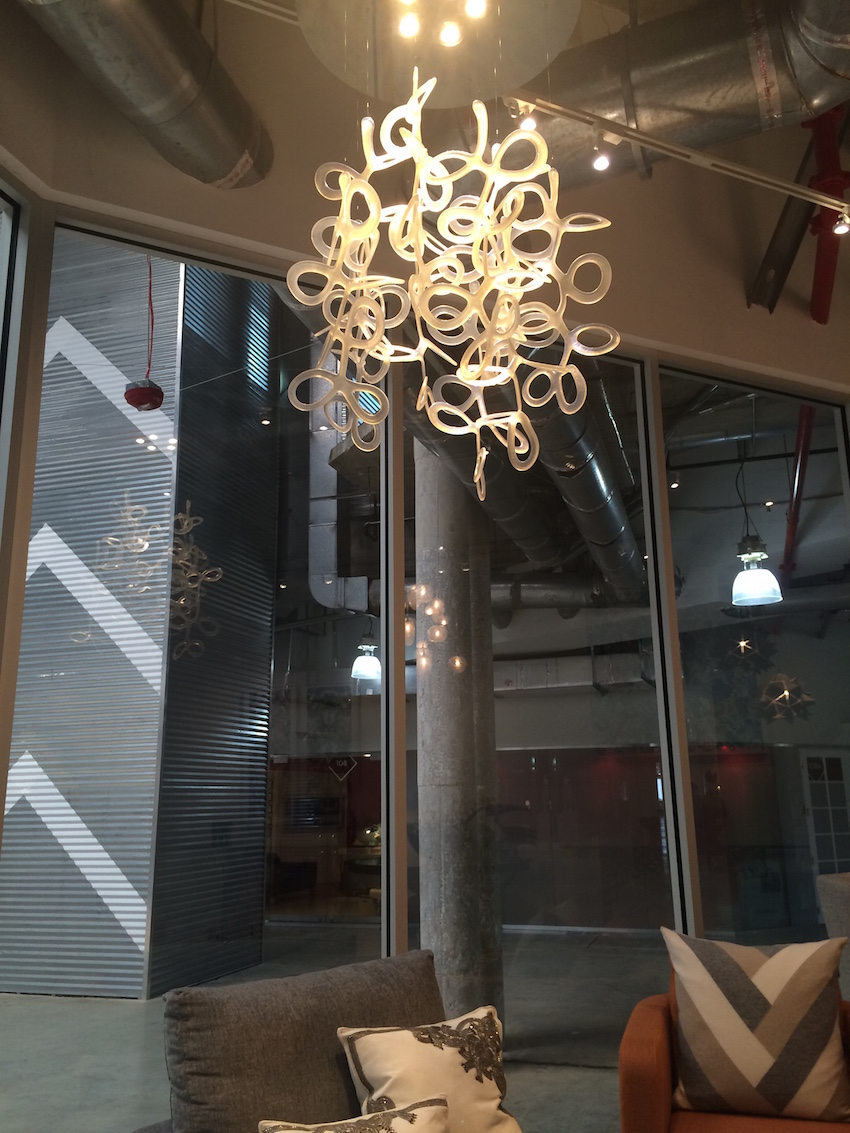Loop suspension glass light