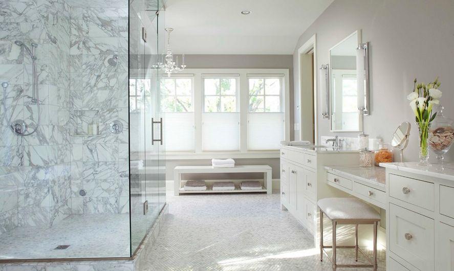 Marble shower tile design