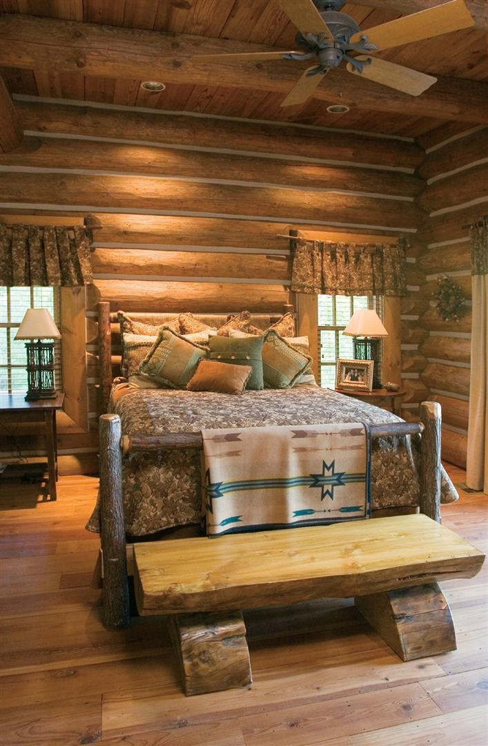 Masculine rustic bedroom design