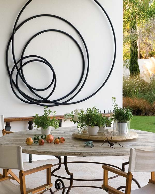 Elegant Metalic Outdoor Wall Decor