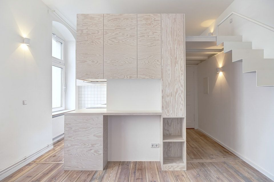 Maximizing micro spaces tiny berlin apartments by spamroom for Micro cuisine design